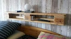 simple shelf with pallets