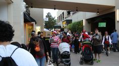 Wild Customers and Crowd during halloween town square lv 2014 crowd