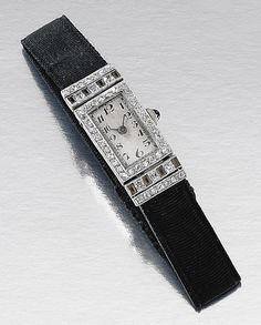 Art Deco Watch, 1920s, Diamond Cuts, Auction, Gems, Bling, Jewels, Unisex, Watches