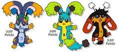 some Jewelpuff Rabbit adoptions I've drawn