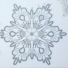 Crochet Star Patterns, Crochet Snowflake Pattern, Crochet Stars, Christmas Crochet Patterns, Crochet Snowflakes, Crochet Mandala, Doily Patterns, Crochet Motif, Crochet Flowers
