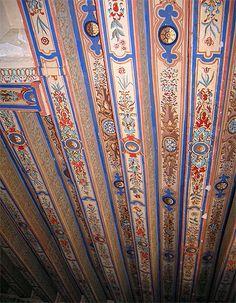 Magnifique plafond - château de Montpoupon