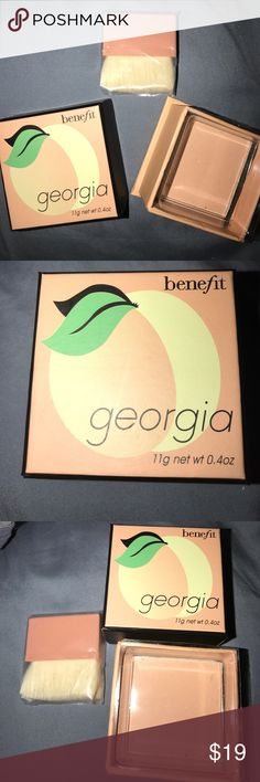 Benefit Georgia Just Peachy Face Powder new in box Just peachy benefit face powder 11g .4oz new in box, Benefit Makeup Face Powder