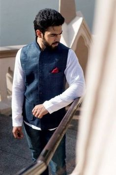 Benzerworld presents latest designer Indian wedding attire for men and women,elegant bridal outfits,exquisite ethnic wear and eclectic jewelry collection Indian Wedding Wear, Wedding Attire, Indian Fashion, Mens Fashion, Denim Jacket Men, Linen Jackets, Bridal Outfits, Gentleman Style, Color Combinations