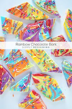 Rainbow Chocolate Bark Recipe Great for St. Patrick's Day and Birthday Parties!