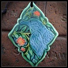 Art Nouveau Tiles, Art Deco, Crow Art, Roycroft, Vintage Tile, Ceramic Birds, Tile Art, Sculptures, Artisan