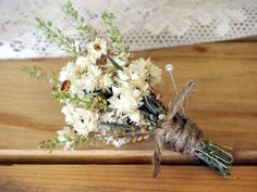 RUSTIC Dried Flower Wedding Boutonniere - Perfect for your Country Wedding via Etsy Floral Wedding, Rustic Wedding, Our Wedding, Wedding Flowers, Dream Wedding, Wedding Ideas, Fall Wedding, Wedding Ceremony, Wedding Stuff