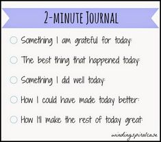 2-Minute Journal