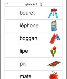 Jules CP Read In French, Learn French, French Language Lessons, French Lessons, French Teaching Resources, Teaching French, Kindergarten Learning, Teaching Reading, Color Worksheets For Preschool
