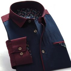 Patchwork Camisa Masculina Men Shirt  Long Sleeve Imported Clothing Slim Fit Fashion Casual Shirts Dress Shirts Men Clothes