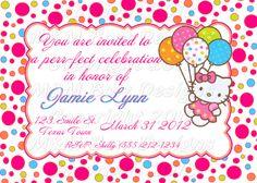 hello kitty graduation announcements   Hello Kitty Christening Invitation Free Printable