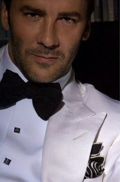 White & Black, with a stylish pocket square, always makes the right statement!