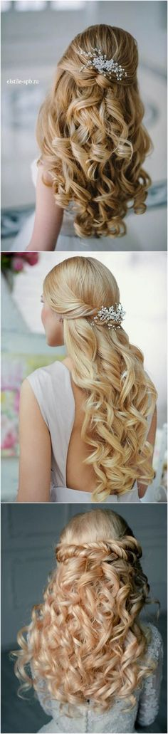 40 Stunning Half Up Half Down Wedding Hairstyles with Tutorial / http://www.deerpearlflowers.com/15-stunning-half-up-half-down-wedding-hairstyles-with-tutorial/
