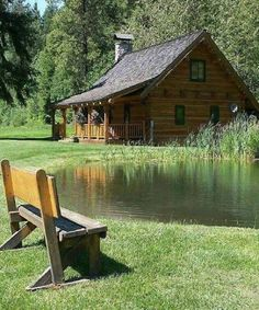 60 Log Cabins – Page 3 – WoodworkerZ Lake Cabins, Cabins And Cottages, Le Riad, Haus Am See, Little Cabin, Log Cabin Homes, Cabins In The Woods, My Dream Home, Beautiful Homes