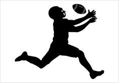 A perfect silhouette of american football player ideal for any Superbowl party ads or flyers or college football graphics. American Football Silhouette ...