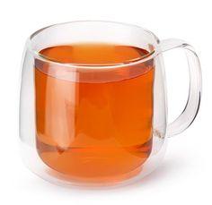 David's Tea glass tea mug