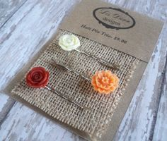 Good thinking - use of jute/burlap adds character, plus can pinned through without punching holes on card.