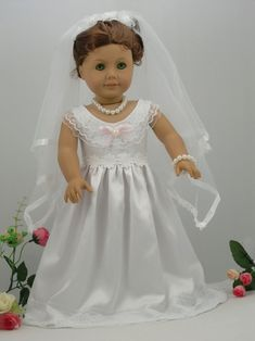 Doll Clothes Fits 18 American Girl Doll White Wedding Communion ...