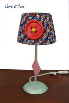 """Lampada da tavolo """"Bottone"""" di CuorediCasa su Etsy"""