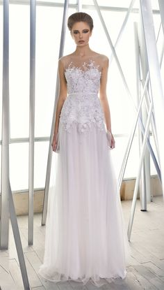 'Lihi', from the Mira Zwillinger 'Reflections' collection, available at Browns Bride...