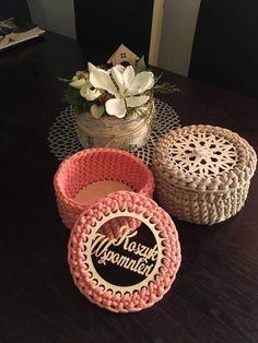 Kosze na zamówienie w dowolnych kolorach oraz rozmiarach Crochet, Ganchillo, Crocheting, Knits, Chrochet, Quilts