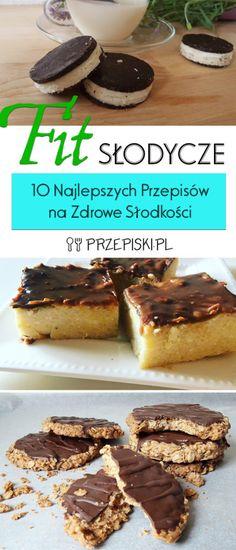 FIT Słodycze - 10 Najlepszych Przepisów na Zdrowe Słodkości Oreo, Food And Drink, Meals, Healthy, Fitness, Desserts, Recipe Box, Interior, Foods