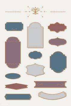 Old Paper Background, Beige Background, Vintage Stamps, Vintage Labels, Graduation Cap Images, Badge Template, Floral Logo, Ornaments Design, Design Reference