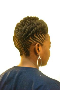 Twisted Updo! | Black Women Natural Hairstyles