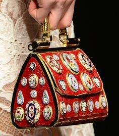 Dolce & Gabbana Fall 2013 Byzantine Mosaic-Inspired Accessories