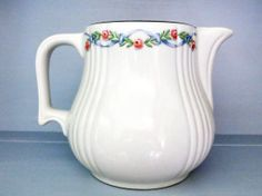Hall Pitcher Wildfire Roses Pink White by HerbgirlAndVintage, $48.00