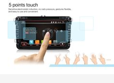 5 points touch. Sensitive electrostatic induction, no nails pressure, gestures flexible, and easy to use and convenient