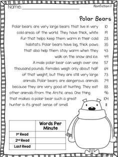 Winter Animals- Fluency passages and other fluency activities $