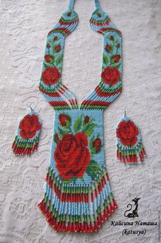 Bead Loom Patterns, Peyote Patterns, Collar Indio, Beaded Necklace Patterns, Latest Mehndi Designs, Native Beadwork, Loom Beading, Bead Earrings, Bead Weaving