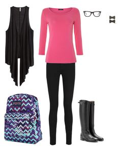 """day 246 @ school"" by animelovrr ❤ liked on Polyvore featuring Yves Saint Laurent, Weekend Max Mara, Valentino, JanSport, Ray-Ban, H&M and Kate Marie"
