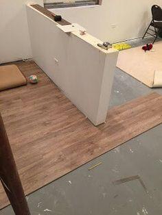 Driftwood Oak NuCore vinyl plank flooring from Floor & Décor