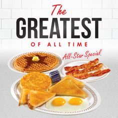 The Greatest of All Time for 20 years! 🎉Happy Birthday to the All-Star Special! Waffle House, 20 Years, All Star, All About Time, Waffles, Happy Birthday, Boards, Photo And Video, Cool Stuff