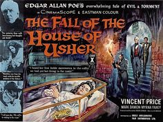 Poster for the film THE FALL OF THE HOUSE OF USHER (1960) - Directed by Roger Corman and starring Vincent Price