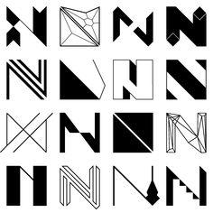 Namosh : \\ MMMADE \\ Graphic Design Studio N Logo Design, Graphic Design Tips, Graphic Design Studios, Logo Design Inspiration, Lettering Design, Typography Letters, Typography Logo, Art Logo, N Letter Design