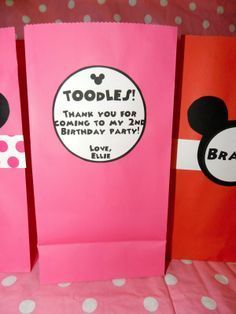 mickey mouse birthday goody bags | Addicted 2 Mickey: Minnie Mouse Themed Birthday Party