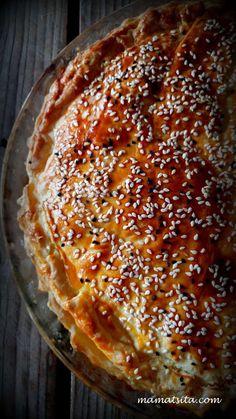 Τυρόπιτα κουρού σε 30 λεπτά - mamatsita.com Greek Cooking, Cooking Food, Greek Recipes, No Cook Meals, Quiche, Food And Drink, Pizza, Favorite Recipes, Kitchens