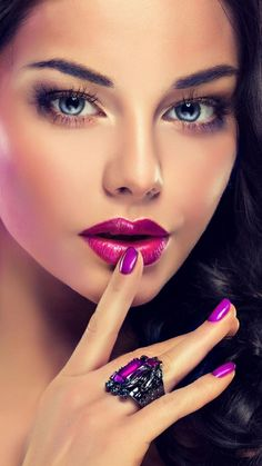 Beauty make up wallpaper by georgekev - - Free on ZEDGE™ Pure Beauty, Beauty Make Up, Hair Beauty, Beautiful Lips, Beautiful Women, Beauty Studio, Woman Face, Pure Products, Purple