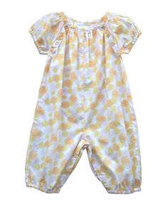 Sunflower Organic Playsuit - everything from this brand is organic and looks sweet and lovely- #zulily