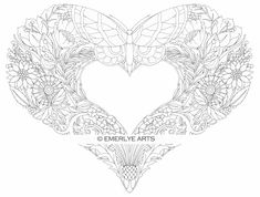 Cynthia Emerlye, Vermont artist and life coach: Butterfly Heart - an adult coloring page