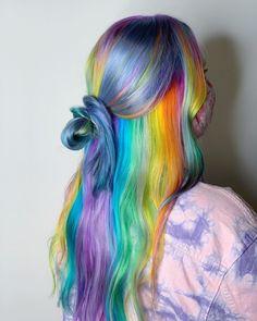 Cool Hair Color, Hair Colour, Beautiful Hairstyles, Cute Hairstyles, Wig Styles, Long Hair Styles, Hair Coloring, Colorful Hair, Different Hairstyles