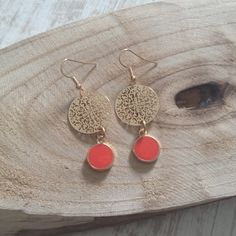 Lovely DQ golden bohemian charms with orange/red charms.