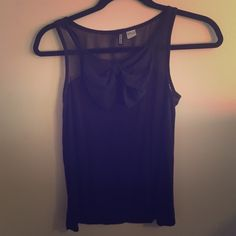 Bow front shear half back top H&M. Never worn H&M Tops Tank Tops