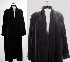 Vintage+1980s++black+cotton+velvet+opera+coat/cape/evening+coat/formal+coat+size+small+by+VintageRoseTattoo+on+Etsy