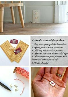 DIY fairy door. Such a cute idea