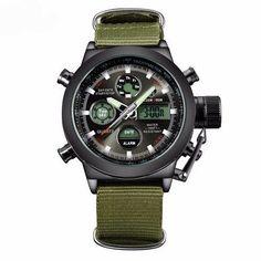 Men's Military Canvas Wrist Watch