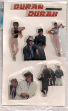 Duran Duran puffy stickers... Loved anything Duran Duran related---what a dork I was!